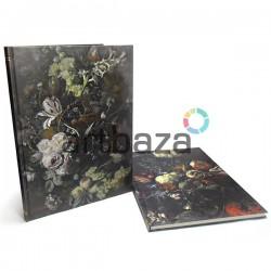"""Блокнот - книга для зарисовок (набросков), 52 листа, 253 x 345 мм., """"Still Life with Flowers and Fruit"""""""