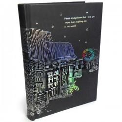 """Блокнот - книга для эскизов и зарисовок с черными листами, 128 листов, 134 x 190 мм., """"Leisure Holiday"""""""
