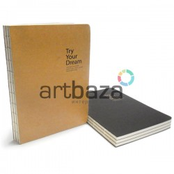 """Блокнот для зарисовок (набросков), 112 листов, 150 x 210 мм., """"Try Your Dream"""""""