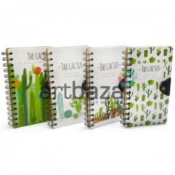 "Блокнот - скетчбук для рисования на спирали, 98 листов, 105 x 184 мм., ""The Cactus"""