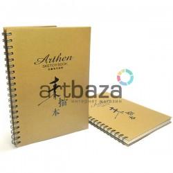 Блокнот - альбом (скетчбук) на спирали для эскизов Arthen SKETCH BOOK, 210 x 297 мм.