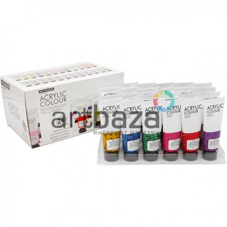 Набор художественных акриловых красок, 24 цвета по 22 мл., Art Rangers ● FEA2422-S2 ● 6949905298416