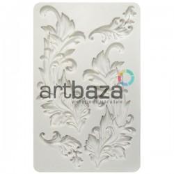 Силиконовый молд 3D, вензель Baroque Swirls, размер 19 x 12 см., толщина 1 см., REGINA ● Молд силиконовый для творчества
