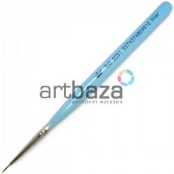 Кисть синтетическая Artdeco, liner, REGINA на короткой деревянной ручке ● Кисти для маникюра, росписи и дизайна ногтей
