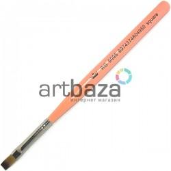 Кисть синтетическая Artdeco, square, REGINA на короткой деревянной ручке ● Кисти для маникюра, росписи и дизайна ногтей