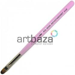 Кисть синтетическая Artdeco, oval, REGINA на короткой деревянной ручке ● Кисти для макияжа, маникюра и дизайна ногтей