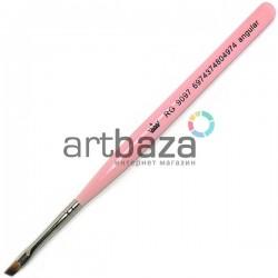 Кисть синтетическая Artdeco, angular, REGINA на короткой деревянной ручке ● Кисти для макияжа, маникюра и дизайна ногтей