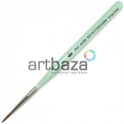 Кисть синтетическая Artdeco, long liner, REGINA на короткой деревянной ручке ● Кисти для маникюра, росписи и дизайна ногтей