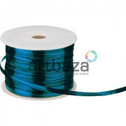 Упаковочная проволока в фольге, 4 мм., 65 м., голубая, Twist Tie