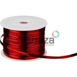 Упаковочная проволока в фольге, 4 мм., 65 м., красная, Twist Tie