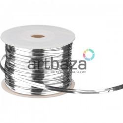 Упаковочная проволока в фольге, 4 мм., 65 м., серебряная, Twist Tie