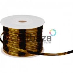 Упаковочная проволока в фольге, 4 мм., 65 м., бронзовая, Twist Tie