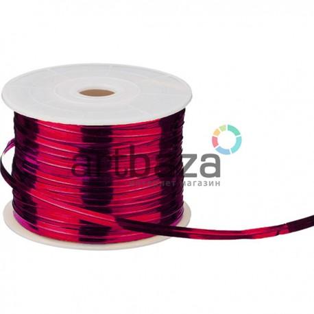 Флористическая упаковочная проволока в фольгированной обмотке, 4 мм., 65 м., малиновая, Twist Tie