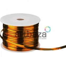 Флористическая упаковочная проволока в фольгированной обмотке, 4 мм., 65 м., оранжевая, Twist Tie