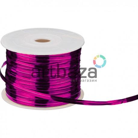 Флористическая упаковочная проволока в фольгированной обмотке, 4 мм., 65 м., фиолетовая, Twist Tie
