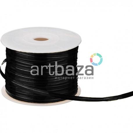 Флористическая упаковочная проволока в фольгированной обмотке, 4 мм., 65 м., черная, Twist Tie