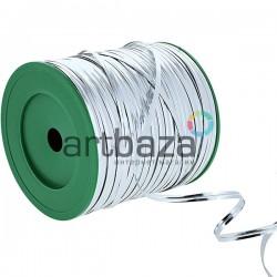Упаковочная проволока в фольге, 4 мм., 300 м., серебряная, Twist Tie