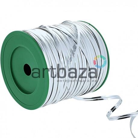 Флористическая упаковочная проволока в фольгированной обмотке, 4 мм., 300 м., серебряная, Twist Tie
