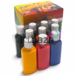 Набор анилиновых красок по ткани и шелку, 10 цветов по 50 мл., ТЕСС