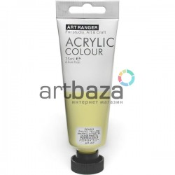 Краска акриловая художественная, Желтая пастельная / Pastell Yellow, 75 мл., Art Ranger