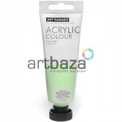 Краска акриловая художественная, Зеленая пастельная / Pastell Green, 75 мл., Art Ranger