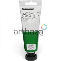 Краска акриловая художественная, Зеленая средняя / Green Mid, 75 мл., Art Ranger
