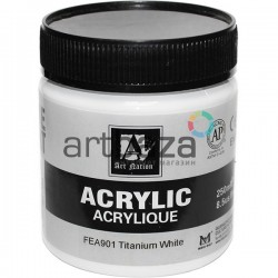 Краски акриловые художественные, Белила Титановые / Titanium White, 250 мл., Art Nation