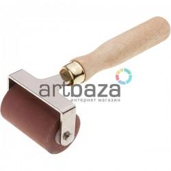 Валик дактилоскопический каучуковый на металлических кронштейнах, рабочая часть: 4.9 см.