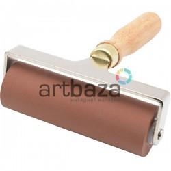 Валик дактилоскопический каучуковый на металлических кронштейнах, рабочая часть: 9.8 см.