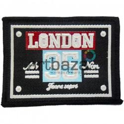 Нашивка - патч для одежды, London 35, 6.2 x 8.2 см.