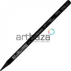 Цветной бездревесный карандаш в лаковом корпусе Progresso, айвори черный, Koh-I-Noor