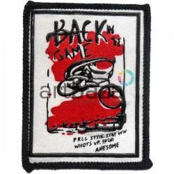 Нашивка - патч для одежды, Back Game, 5.9 x 7.6 см.