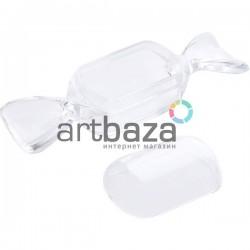 Пластиковая декоративная форма - конфета, разъёмная, 8.2 х 2.1 см.