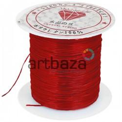 Эластомерная нить (эластичная спандекс нить) силиконовая, красная, Ø0.8 мм., 10 метров | Купить в Киеве и Украине