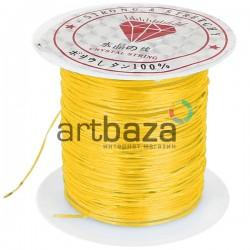 Эластомерная нить (эластичная нить) силиконовая, оранжевая, Ø0.8 мм., 10 метров