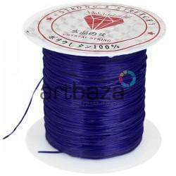 Эластомерная нить (эластичная нить) силиконовая, синяя, Ø0.8 мм., 10 метров