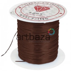 Эластомерная нить (эластичная нить) силиконовая, коричневая, Ø0.8 мм., 10 метров