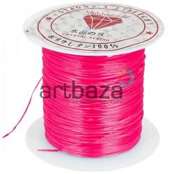 Эластомерная нить (эластичная нить) силиконовая, розовая, Ø0.8 мм., 10 метров