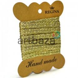 Тесьма декоративная косичка золотая, толщина - 0.8 см., длина - 1.5 м., REGINA