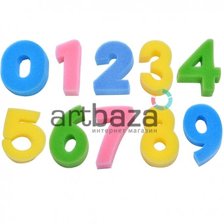 Набор фигурных поролоновых губок (цифры), 9 штук, KeepSmiling ● RG-20021 ● 2000790984816