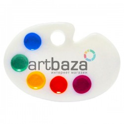 Миниатюра - имитация Палитра с краской, 2.3 см., 3 штуки, Dollhouse