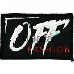 Нашивка - патч для одежды, Off Fashion, 5 x 8 см.
