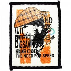 Нашивка - патч для одежды, Big Saving, 6.2 x 8.2 см.