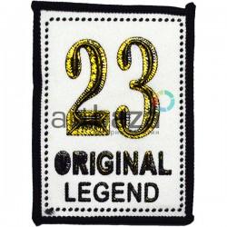 Нашивка - патч для одежды, 23 Original Legend, 5.8 x 8 см.