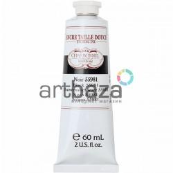 Краска офортная для гравюры, черная, 60 мл., Charbonnel Lefranc&Bourgeois | Noir 55981 | Black 55981 | Краска для гравюры