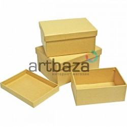 """Набор подарочных коробок из крафтового картона """"Прямоугольник"""", 3 штуки"""