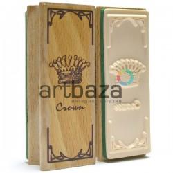 """Резиновый декоративный штамп для штампинга в скрапбукинге на деревянной оснастке, """"Корона"""", Fun&Joy"""