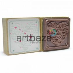 """Резиновый штамп для скрапбукинга на деревянной оснастке, """"I Love You"""", Fun&Joy"""