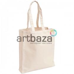 Эко-сумка шоппер, хлопковая с длинной ручкой, 37.5 x 41 x 9.5 см., REGINA Galant