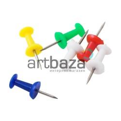 Кнопки - гвоздики цветные канцелярские, 30 шт., Arrow | Купить кнопки канцелярские цветные в интернет магазине ARTBAZA